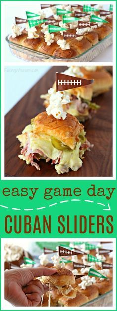 Easy Cuban Sliders for Game Day | Perfect appetizer idea for football fans - Raising Whasians via @raisingwhasians (AD)