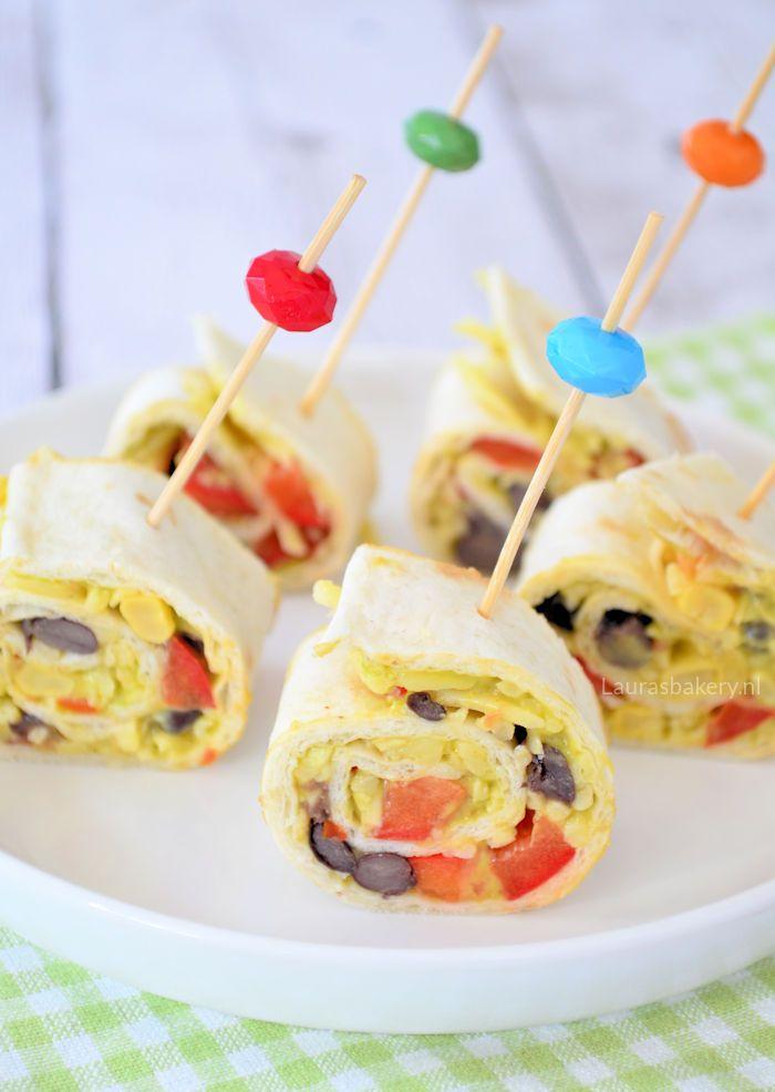 Mexican pinwheel bites - Mexicaanse wrap hapjes - Laura's Bakery