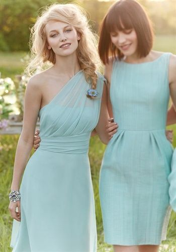 robins egg blue bridesmaid dresses. I would like to have each bridesmaid choose their own style with the same color... Just like this.