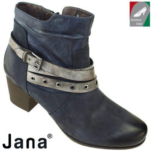 Jana női bőr bokacsizma 8-25330-29 805 kék