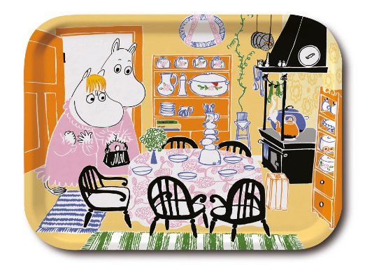 Moomin - Wooden tray -Moomin kitchen- 43x33 cm (Opto Design) [103-88]