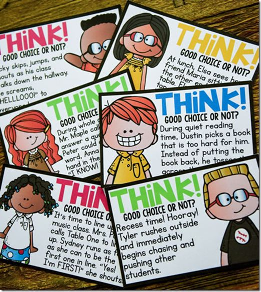 LOVE these Think About It cards....perfect for beginning of the year discussions.