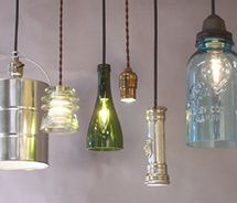 128 best lamp shades images on pinterest lampshades lamp shades some cool recycled items turned into lamp pendants paint tin transistor cover from aloadofball Choice Image