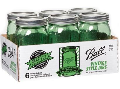 Spring Green Mason Jars!