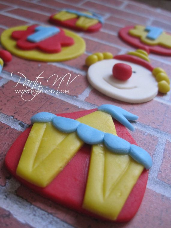 EDIBLE Fondant Toppers  Circus by PartyNV on Etsy