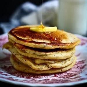 Lemon Poppy Seed Buttermilk Pancake | Foodies Unite | Pinterest