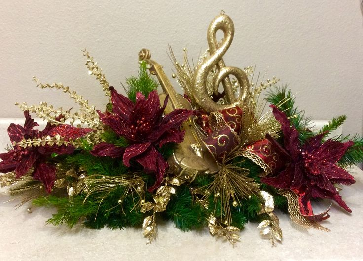 Music notes burgundy and gold all about christmas
