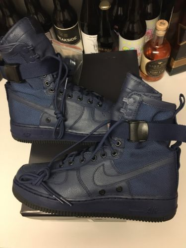 NIKE WOMENS SF AF-1 FUTURE FORCE SPECIAL FIELD AIR FORCE BINARY BLUE 12