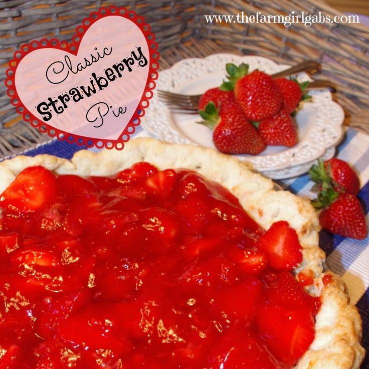 Blogger Melissa Russo shares this Classic Strawberry Pie It's perfect to make with all those #JerseyFresh strawberries you just picked from your garden.