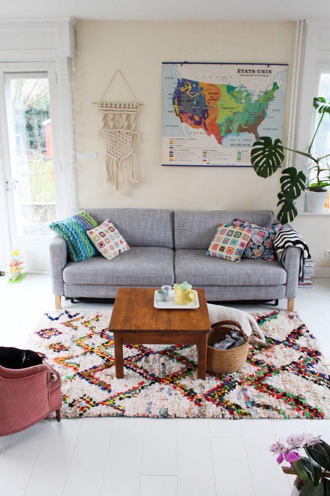 Amazigh rug in modern interior