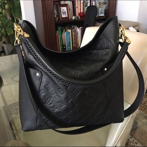 Louis Vuitton Black Bagatelle Louis Vuitton Black Leather bagatelle. All Leather Shoulder bag. Key chain is not included. Louis Vuitton Bags Shoulder Bags