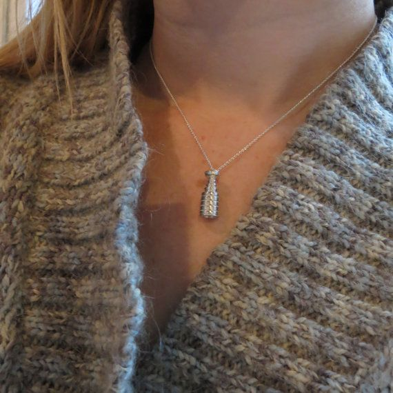 I WANT THIS!!! Sterling Silver Stanley Cup Necklace by touchthedutch on Etsy, $75.00