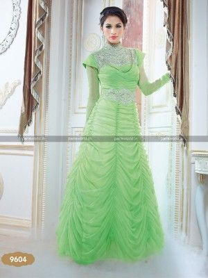 Liril Green Net Exclusive Indo Western Gown