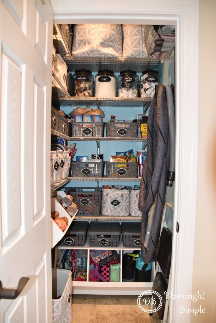 Downright Simple:  Small Pantry Gets BIG Makeover!