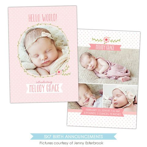 Best Birth Announcement Templates Images On   Birth