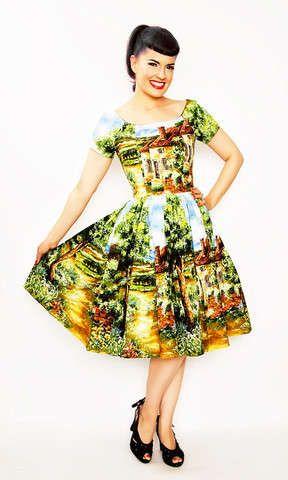 The Fun Printed Bernie Dexter Dresses Have Timeless Style #dress #fashion trendhunter.com