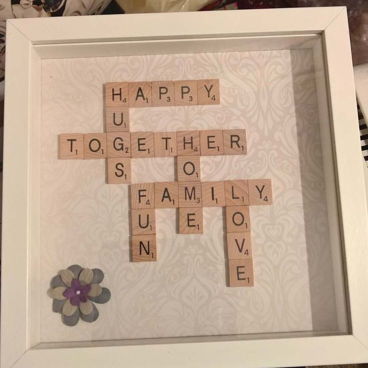 """13 Likes, 1 Comments - The Gift Boutique (@thegiftboutiquepetersfield) on Instagram: """"#scrabble art. Personalised ones to order with any names, words you choose. From £18.…"""""""