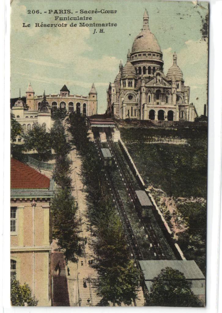 1 postcard France 75 Paris Paris Sacre Couer Funiculaire, €1.89