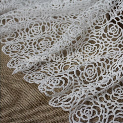 1Yard High Quality African Guipure Lace Fabric For Sewing/White Cord Lace Fabric/Nigerian Wedding Dress French Lace Fabric