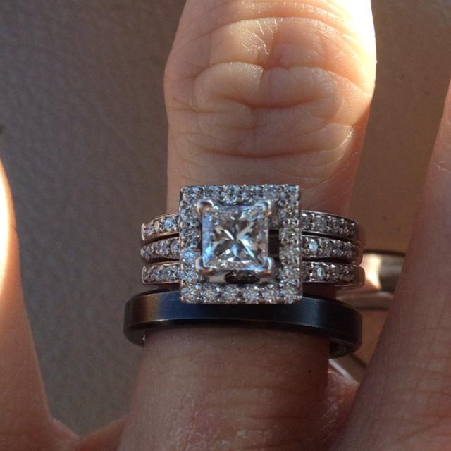 Love my wedding ring! Princess cut
