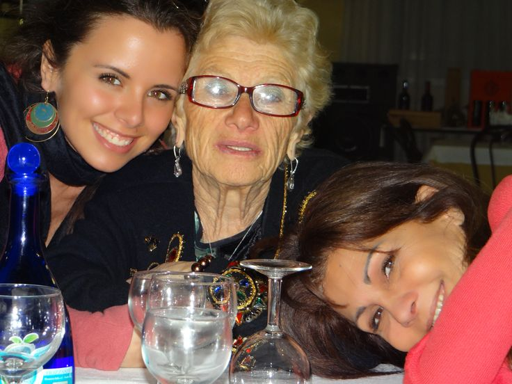 nonna and mum! the three generations!