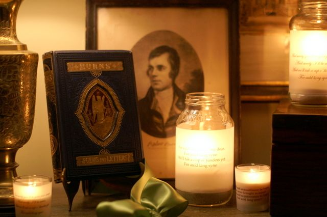 Robert Burns candles