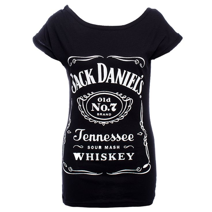 Jack Daniels Logo Buttons Skinny T Shirt (Black) Molly got from Croatia for me ^^