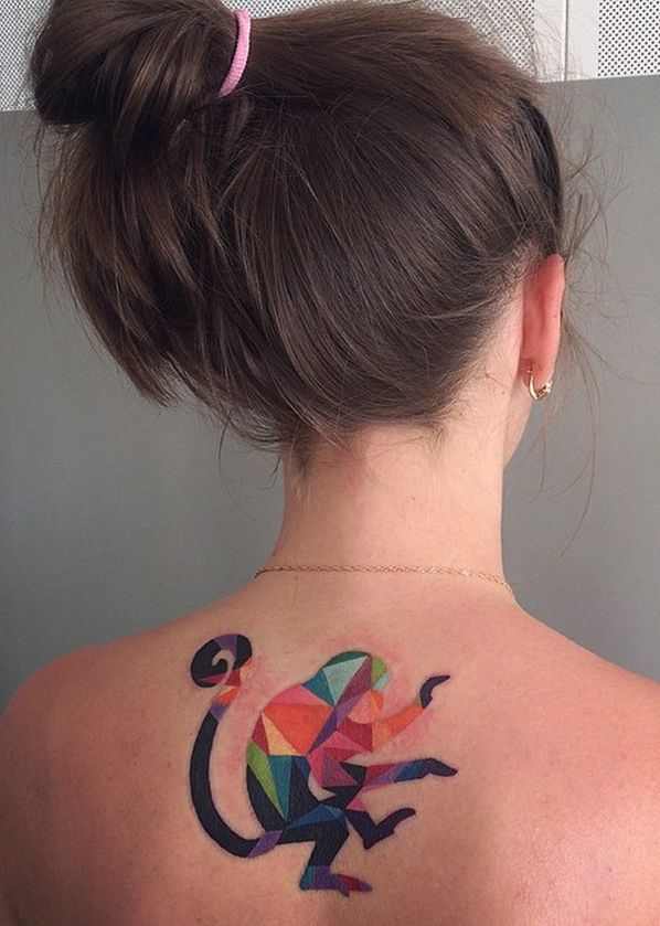 These Watercolor Tattoos By Sasha Unisex Will Make You Think Ink Monkey Tattoos Animal Tattoos Tattoos