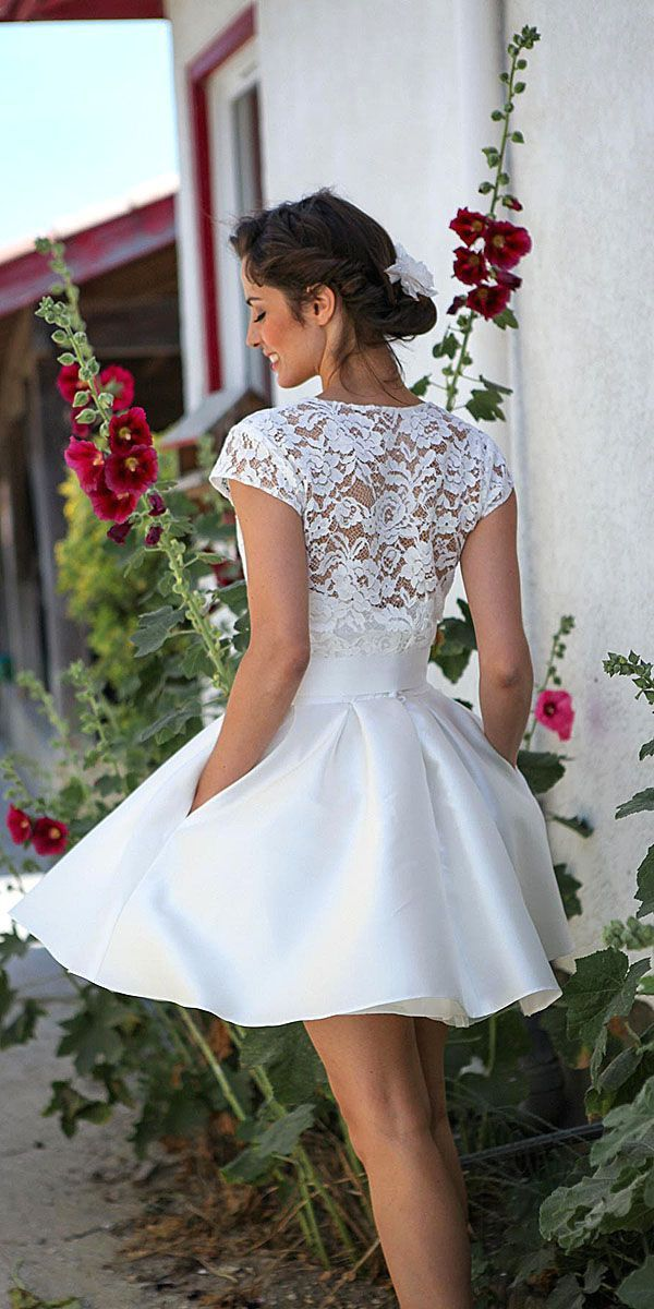 17 best ideas about short wedding gowns on pinterest for Wedding dresses for short petite brides