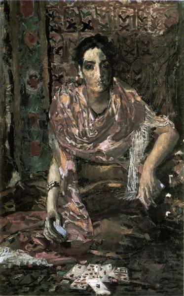 The+Fortune+Teller,+1895+-+Mikhail+Vrubel