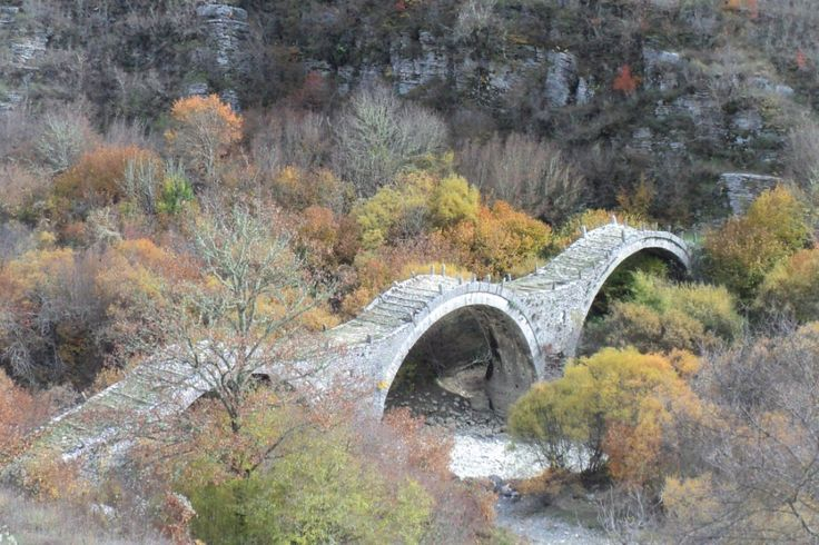 Kalogeriko stone bridge built in 1814