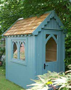 Image detail for -gothic-shed.jpg --- Lovely little building for a tool shed. I think I'd paint it white though.
