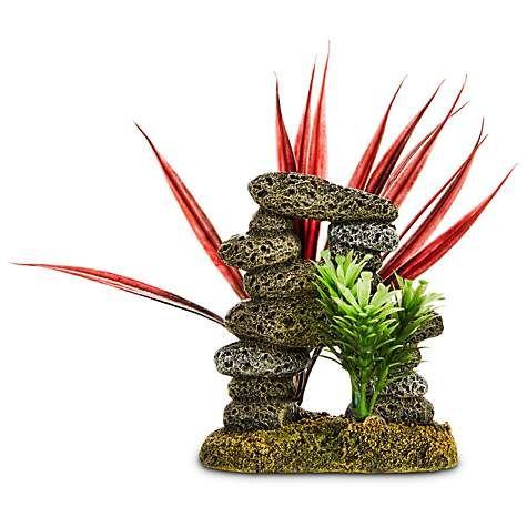 Imagitarium Stacked Stones & Plants Aquarium Ornament | Petco