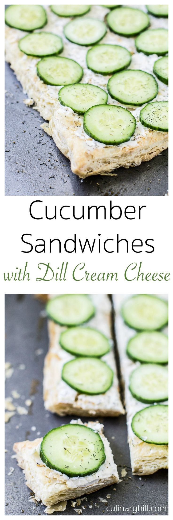 Cucumber Sandwiches are an easy, crowd-pleasing appetizer you'll make again and again! All the components can be made ahead of time and assembled in minutes.