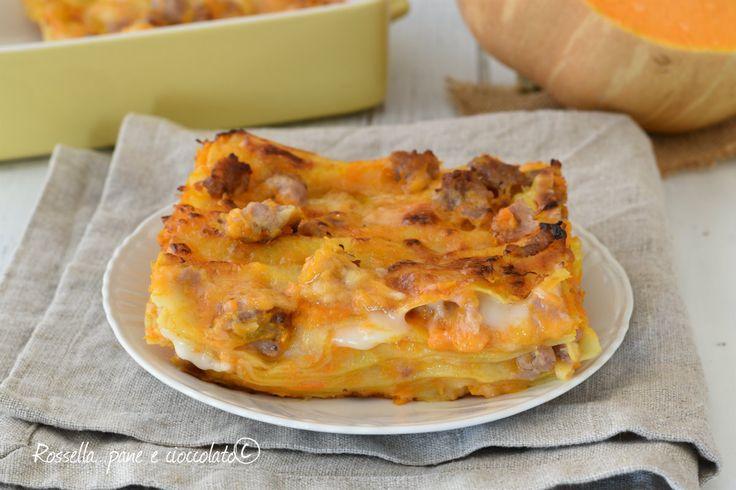 Le LASAGNE con ZUCCA sono un primo piatto al forno molto saporito e cremoso perfetto per essere inserito nel menu' settimanale!