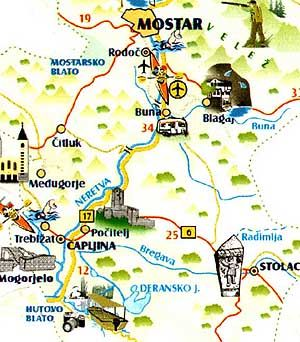 Győrffy Árpád: Mostar, Blagaj, Pocitelj, Radimlja, Hutovo Blato – Bosznia-Hercegovina – 2004 | Útikalauz