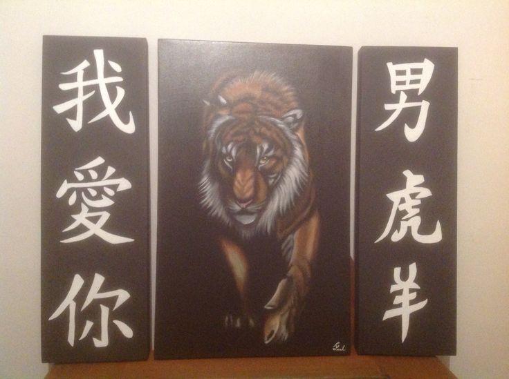 Tigre en acrílico