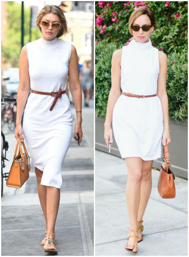 Celebrity Fashion | Gigi Hadid's White Turtleneck Dress – Sydne Style