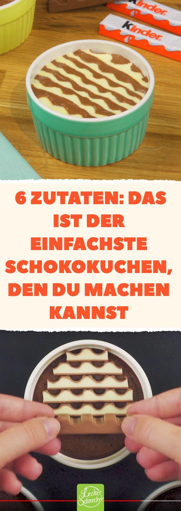 Superschneller, einfacher #Kinderschokolade #Tassenkuchen. #schokolade #rezept #…