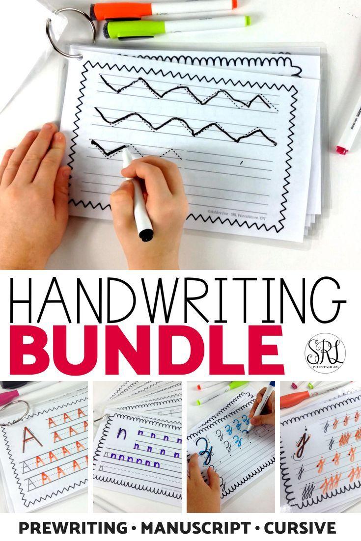Handwriting Worksheets Bundle Writing Pinterest Middle School