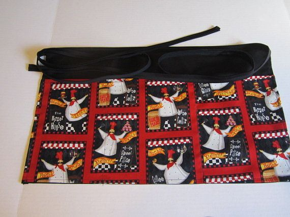 3 pocket waitress apron New Handmade by SewMyWorld on Etsy