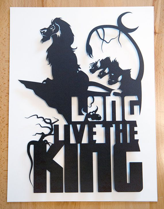 Lion King Scar Long Live The King // silhouette hand by willpigg