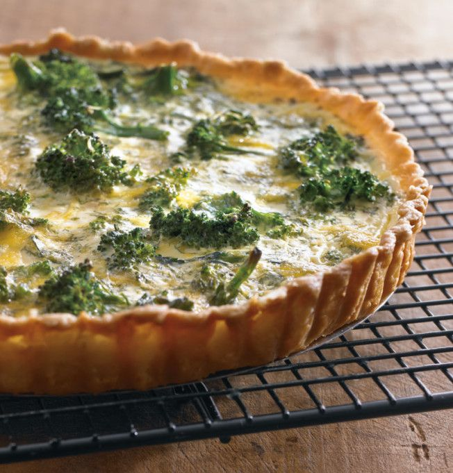 Recipe For Broccoli-Cheddar Quiche - Broccoli and cheddar are a universally appealing combination, so this version is sure to be a crowd-pleaser.