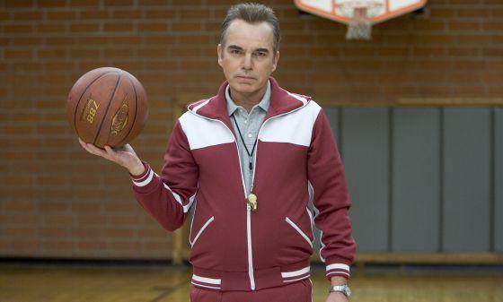 Billy Bob Thornton, un despiadado profesor de educación físca en 'Cuestión de pelotas' (2007). Tampoco hay que ponerse tan estricto para rebajar el 'flotador'...