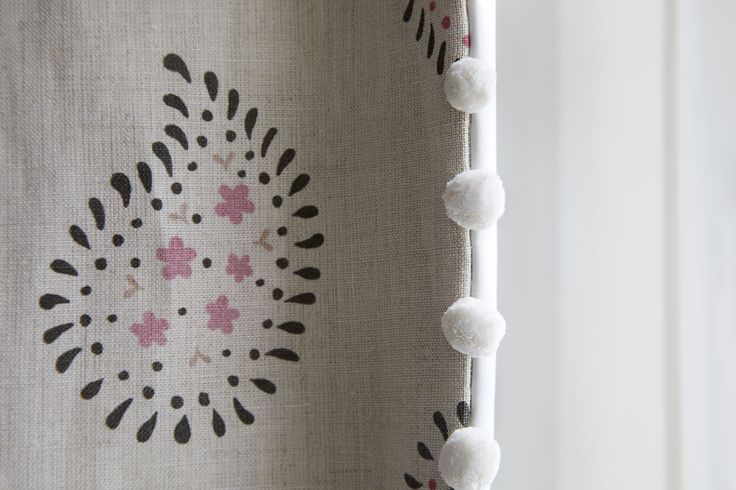 Westbourne Grove Townhouse curtain detail.  Designed by Talia Cobbold http://www.taliacobbold.com/