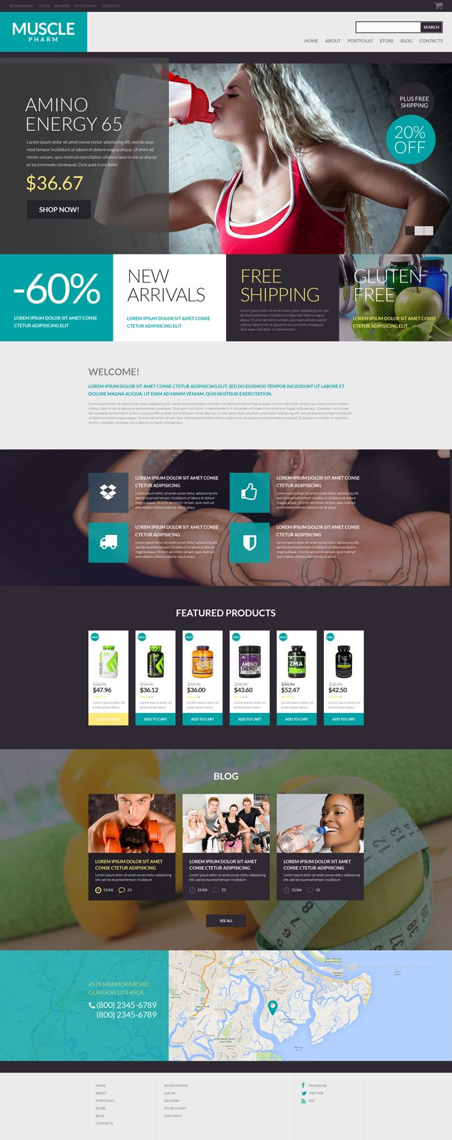 #WooCommerce Theme for Drug Store (#PSD, #HTML5, #JS, #CSS3, #Wordpress)