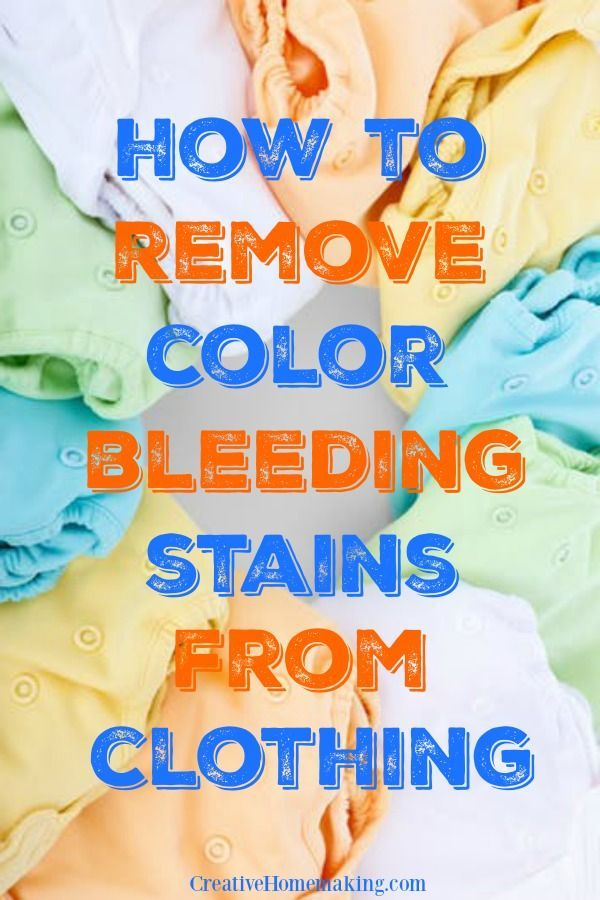 Removing color bleeding stains | laundry cleaning tips for removing color that has bled from one piece of clothing to another.