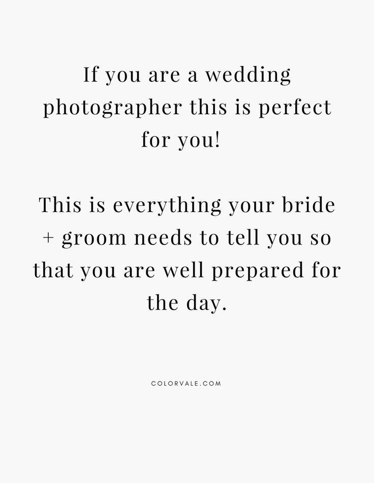 Wedding Day Questionnaire Bundle