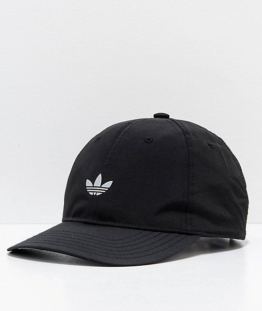 82841784 adidas Relaxed Modern II Black Strapback Hat | Asian LB Look ...