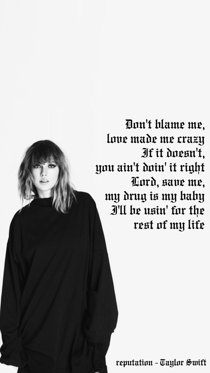 I have made this Taylor Swift lockscreen with Don't Blame Me lyrics hope you enjoy!